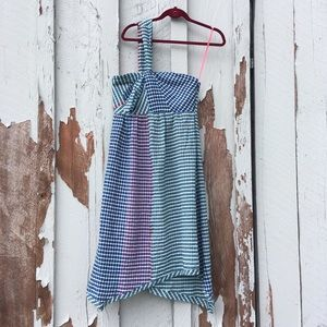 Maeve Gingham Dress Checkered 6 Side Strap Colored